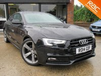 USED 2014 14 AUDI A5 2.0 TDI QUATTRO S LINE BLACK EDITION S/S 2d AUTO 174 BHP SAT NAV, FULL LEATHER INTERIOR, HEATED SEATS, BANG & OLUFSEN SOUND SYSTEM, TINTED GLASS, PARKING SENSORS, FULL AUDI SERVICE HISTORY, SPARE KEY