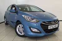 USED 2012 62 HYUNDAI I30 1.6 ACTIVE BLUE DRIVE CRDI 5DR 109 BHP FULL SERVICE HISTORY + AIR CONDITIONING + PARKING SENSOR + CRUISE CONTROL + MULTI FUNCTION WHEEL + 15 INCH ALLOY WHEELS
