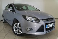 USED 2012 62 FORD FOCUS 1.6 ZETEC TDCI 5DR 113 BHP AIR CONDITIONING + PARKING SENSOR + BLUETOOTH + MULTI FUNCTION WHEEL + 16 INCH ALLOY WHEELS