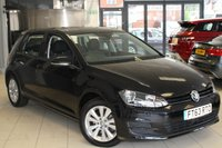 USED 2014 63 VOLKSWAGEN GOLF 1.6 SE TDI BLUEMOTION TECHNOLOGY DSG 5DR AUTOMATIC 103 BHP FULL VW SERVICE HISTORY + £20 A YEAR ROAD TAX + AIR CONDITIONING + UP TO 70 MPG + BLUETOOTH + CRUISE CONTROL + TOUCH SCREEN MONITOR + 16 INCH ALLOYS