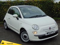 USED 2012 12 FIAT 500 1.2 LOUNGE 3d * BLUE and ME BLUETOOTH with VOICE CONTROLS *