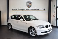 USED 2011 11 BMW 1 SERIES 2.0 116D SPORT 5DR 114 BHP + FULL BMW SERVICE HISTORY + SPORT SEATS + AUXILIARY PORT + CLIMATE CONTROL + AUTO STOP/START FUNCTION + 16 INCH ALLOY WHEELS +