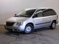 USED 2007 07 CHRYSLER VOYAGER 2.5 CRD SE 5d 141 BHP 7 SEATER PRIVACY MOT 07/18 7 SEATER. STUNNING SILVER WITH GREY CLOTH TRIM. COLOUR CODED TRIMS. PRIVACY GLASS. AIR CON. 6 SPEED MANUAL. TOWBAR. MOT 07/18. AGE/MILEAGE RELATED SALE. TEL 01937 849492