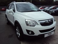 USED 2012 62 VAUXHALL ANTARA 2.2 EXCLUSIV CDTI 2WD S/S 5d 161BHP 2 KEYS+START STOP+HALF LEATHER
