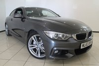 USED 2013 63 BMW 4 SERIES 3.0 435I M SPORT 2DR 302 BHP HEATED LEATHER SEATS + 0% FINANCE AVAILABLE T&C'S APPLY + SAT NAVIGATION PROFESSIONAL + BMW CONNECTED DRIVE SERVICES + REVERSE CAMERA + CRUISE CONTROL WITH BRAKE FUNCTION + M SPORT PACKAGE