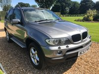 USED 2004 53 BMW X5 3.0 SE 24V 5d AUTO 228 BHP FULL BLACK LEATHER, HEATED SEATS,