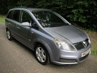 USED 2007 07 VAUXHALL ZAFIRA 1.8 CLUB 16V 5d 140 BHP GREAT VALUE VERY WELL CARED FOR ZAFIRA WITH SEVEN SEATS, AIR CONDITIONING, ALLOY WHEELS AND VAUXHALL SERVICE HISTORY