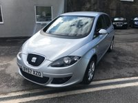 USED 2007 57 SEAT ALTEA 1.9 REFERENCE TDI 5d 103 BHP F.S.H ** CAMBELT AT 83K ** ONLY 2 FORMER KEEPERS **
