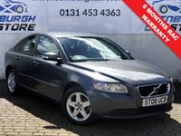 USED 2008 08 VOLVO S40 1.8 S 4d 125 BHP PRICE INCLUDES A 6 MONTH RAC WARRANTY, 1 YEARS MOT WITH AND 12 MONTHS FREE BREAKDOWN COVER
