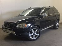 USED 2010 10 VOLVO XC90 2.4 D5 R-DESIGN SE AWD 5d AUTO 185 BHP 7 SEATER SAT NAV LEATHERFSH 4WD. 7 SEATER. SATELLITE NAVIGATION. STUNNING BLACK MET WITH FULL BLACK LEATHER R DESIGN TRIM. ELECTRIC MEMORY HEATED SEATS. CRUISE CONTROL. 19 INCH ALLOYS. COLOUR CODED TRIMS. PRIVACY GLASS. PARKING SENSORS. BLUETOOTH PREP. CLIMATE CONTROL. R/CD PLAYER. MFSW. MOT 07/18. FULL SERVICE HISTORY. PRISTINE CONDITION. FCA FINANCE APPROVED DEALER. TEL 01937 849492.