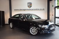 USED 2014 14 AUDI A6 2.0 TDI ULTRA SE 4DR 188 BHP + FULL BLACK LEATHER INTERIOR + 1 OWNER FROM NEW + SATELLITE NAVIGATION + AUDI SERVICE HISTORY + BLUETOOTH + CRUISE CONTROL + DAB RADIO + HEATED MIRRORS + PARKING SENSORS + 18 INCH ALLOY WHEELS +