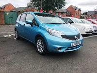 USED 2014 14 NISSAN NOTE 1.2 TEKNA DIG-S 5d AUTO 98 BHP WITH CLIMATE CONTROL , LEATHER AND SATELLITE NAVIGATION..EXCELLENT FUEL ECONOMY!!..LOW CO2 EMISSIONS(119G/KM)..£30 ROAD TAX..FULL NISSAN SERVICE HISTORY..ONLY 7329 MILES FROM NEW!