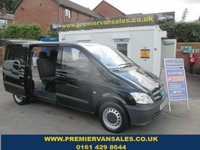 2012 MERCEDES-BENZ VITO 2.1 110 CDI DUALINER, 6 SEATER, AIR CON, BLUETOOTH, CRUISE, FULL HISTORY, ONE OWNER £7995.00