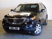 USED 2011 11 KIA SORENTO 2.2 CRDI KX-2 5d AUTO 195 BHP 4WD 7 SEATER LEATHER PDC FSH 4WD. 7 SEATER. STUNNING BLACK MET WITH FULL BLACK LEATHER TRIM. HEATED SEATS. CRUISE CONTROL. 17 INCH ALLOYS. COLOUR CODED TRIMS. PRIVACY GLASS. PARKING SENSORS. BLUETOOTH PREP. CLIMATE CONTROL. TRIP COMPUTER. R/CD PLAYER. MFSW. TOWBAR. MOT 07/18. FULL SERVICE HISTORY. PRISTINE CONDITION. FCA FINANCE APPROVED DEALER. TEL 01937 849492