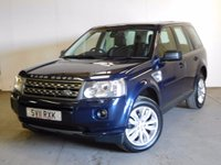 USED 2011 11 LAND ROVER FREELANDER 2 2.2 TD4 HSE 5d 150 BHP SAT NAV PAN ROOF LEATHER PDC FACELIFT MODEL 4WD. SATELLITE NAVIGATION. PANORAMIC SUNROOF. STUNNING BLUE MET WITH FULL BLACK LEATHER TRIM. ELECTRIC MEMORY HEATED SEATS. CRUISE CONTROL. 18 INCH ALLOYS. COLOUR CODED TRIMS. PARKING SENSORS. BLUETOOTH PREP. CLIMATE CONTROL. TRIP COMPUTER. R/CD/MP3 PLAYER. 6 SPEED MANUAL. MFSW. MOT 02/18. ONE PREV OWNER. PRISTINE CONDITION. FCA FINANCE APPROVED DEALER. TEL 01937 849492.