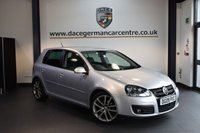 USED 2009 09 VOLKSWAGEN GOLF 2.0 GT TDI 5DR 138 BHP + FULL BLACK LEATHER INTERIOR + SATELLITE NAVIGTAION + VW SERVICE HISTORY + BLUETOOTH + HEATED SPORT SEATS + 18 INCH ALLOY WHEELS +