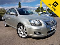 USED 2006 56 TOYOTA AVENSIS 2.0 T4 VVT-I 5d 145 BHP! p/x welcome! AUTO! FULL DEALRSHIP HISTORY! 54k MILES ONLY! CRUISE! PARKING AID! NEW MOT & SRVC! AUTO! FULL-DEALR HIST! CRUISE! 54K miles! PARKING AID! NEW MOT & SERVICE! EX-CONDITION!