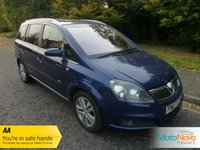 USED 2007 07 VAUXHALL ZAFIRA 1.8 DESIGN 16V 5d 140 BHP GREAT VALUE ZAFIRA DESIGN WITH ONE PREVIOUS OWNER, HALF LEATHER SEATS, AIR CONDITIONING, ALLOY WHEELS AND SERVICE HISTORY