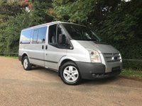 USED 2012 12 FORD TRANSIT 2.2 280 TREND TOURNEO LR 9 STR 5d 124 BHP ** NO VAT ** RARE OPPORTUNITY TO BUY THIS TRANSIT TOURNEO TREND 9 SEATER MINI BUS WITH ONLY 55,000 MILES WITH FULL SERVICE HISTORY,  FINISHED IN MOONDUST SILVER