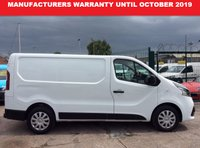 USED 2015 65 RENAULT TRAFIC SWB 1.6 SL27 BUSINESS PLUS DCI S/R 115 BHP 1 OWNER FSH MANUFACTURERS WARRANTY UNTIL OCTOBER 2019 AIR CON BLUETOOTH ELECTRIC WINDOWS AND MIRRORS 6 SPEED REAR PARKING SENSORS COLOUR KEYED FRONT BUMPER ECO DRIVE DRIVER AND PASSENGER AIRBAGS CRUISE CONTROL