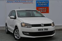USED 2014 14 VOLKSWAGEN POLO 1.2 MATCH EDITION TDI 3d 74 BHP REAR PARKING SENSORS