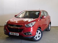 USED 2012 61 HYUNDAI IX35 2.0 STYLE CRDI 5d 134 BHP BLUETOOTH HEATED SEATS PDC FSH STUNNING RED MET WITH BLACK CLOTH TRIM. HEATED SEATS. 17 INCH ALLOYS. COLOUR CODED TRIMS. PARKING SENSORS. BLUETOOTH PREP. CLIMATE CONTROL. R/CD PLAYER. 6 SPEED MANUAL. MFSW. TOWBAR. MOT 02/18. FULL SERVICE HISTORY. PRISTINE CONDITION. FCA FINANCE APPROVED DEALER. TEL 01937 849492
