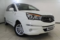 USED 2014 14 SSANGYONG TURISMO 2.0 EX 5DR AUTOMATIC 155 BHP HEATED LEATHER SEATS + 0% FINANCE AVAILABLE T&C'S APPLY + 7 SEATS + SAT NAVIGATION + BLUETOOTH + CRUISE CONTROL + MULTI FUNCTION WHEEL + ALLOY WHEELS