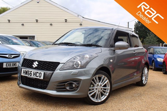 View our 2016 66 SUZUKI SWIFT 1.6 SPORT 3d 134 BHP