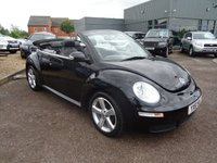 USED 2011 61 VOLKSWAGEN BEETLE 1.9 CABRIOLET TDI 2d 103 BHP 3 PREVIOUS KEEPERS MOT MAY 18 4 SERVICE STAMPS 9431mls, 26415mls, 32767mls & 35959mls With contrasting Black Leather trim, Air Conditioning, Heated Seats, Radio Stereo CD player, electric convertible roof, leather 2 tone steering wheel, ski load through, cup holders, manual pack, switchable passenger air bag, 5 blade alloy wheels, Xenon headlights, Tonneau cover, over mats, remote locking.