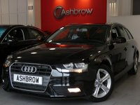 USED 2013 63 AUDI A4 AVANT 2.0 TDI SE TECHNIK 5d 136 S/S HDD SAT NAV WITH DVD PLAYBACK & JUKE BOX (MMI NAVIGATION PLUS), FULL BLACK LEATHER INTERIOR, BLUETOOTH PHONE & MUSIC STREAMING, DAB RADIO, WIRELESS LAN CONNECTION (WLAN), AUDI MUSIC INTERFACE FOR IPOD /  USB DEVICES (AMI), MMI WITH 2x SD CARD READERS, FRONT & REAR PARKING SENSORS WITH DISPLAY, FRONT FOG LIGHTS, ALUMINIUM ROOF RAILS, 17 INCH 5 SPOKE ALLOYS, ELECTRIC TAILGATE, LEATHER MULTI FUNCTION STEERING WHEEL, CRUISE CONTROL, LIGHT & RAIN SENSORS WITH AUTO DIMMING REAR VIEW , 1 OWNER, £30 RFL