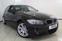 USED 2011 11 BMW 3 SERIES 2.0 318D M SPORT 4DR AUTOMATIC 141 BHP FULL SERVICE HISTORY + AIR CONDITIONING + PARKING SENSOR + BLUETOOTH + CRUISE CONTROL + MULTI FUNCTION WHEEL
