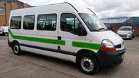 2008 RENAULT TRUCKS MASTER 2.5 100.35 LWB L3H2 1d 100 BHP X AMBULANCE 8 SEATER WITH RAMP £3995.00