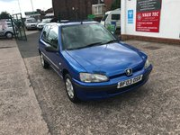 2003 PEUGEOT 106 1.1 INDEPENDENCE 3d 60 BHP £999.00