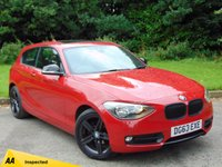 USED 2013 63 BMW 1 SERIES 2.0 116D SPORT 3d AUTO 114 BHP * 128 POINT AA INSPECTED *