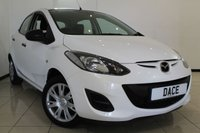 USED 2013 63 MAZDA 2 1.3 TS 5DR 74 BHP AIR CONDITIONING + RADIO/CD + ELECTRIC WINDOWS + AUXILIARY PORT + ELECTRIC MIRRORS