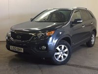 USED 2012 12 KIA SORENTO 2.2 CRDI KX-2 5d 195 BHP 7 SEATER LEATHER CRUISE PRIVACY 4WD. 7 SEATER. STUNNING BLACK MET WITH FULL BLACK LEATHER TRIM. HEATED SEATS. CRUISE CONTROL. SIDE STEPS. 17 INCH ALLOYS. COLOUR CODED TRIMS. PRIVACY GLASS. PARKING SENSORS. BLUETOOTH PREP. CLIMATE CONTROL. TRIP COMPUTER. R/CD PLAYER. 6 SPEED MANUAL. MFSW. TOWBAR. MOT 07/18. SERVICE HISTORY. PRISTINE CONDITION. FCA FINANCE APPROVED DEALER. TEL 01937 849492