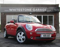 USED 2005 05 MINI CONVERTIBLE 1.6 ONE 2d 89 BHP PRIVATE REG NUMBER, LEATHER SEATS, 2 KEYS, FSH