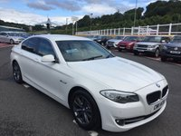 USED 2011 11 BMW 5 SERIES 2.0 520D SE 4d 181 BHP Alpine White with Cream full leather sports heated seats.