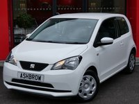 USED 2014 14 SEAT MII 1.0 ECOMOTIVE 3d 60 S/S MANUAL 5 SPEED GEARBOX, START STOP TECHNOLOGY, COLOUR CODED EXTERIOR, AIR CONDITIONING, GREY CLOTH INTERIOR, ISO FIX, FOLDING REAR SEAT, ELECTRIC WINDOWS, CD HIFI, AUX INPUT, NON SMOKING PACK.  1 OWNER FROM NEW, SERVICE HISTORY, £0 ROAD TAX (95 G/KM), VAT QUALIFYING.
