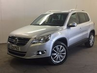 USED 2011 11 VOLKSWAGEN TIGUAN 2.0 SPORT TDI 4MOTION DSG 5d AUTO 138 BHP AIR CON ALLOYS FSH RARE AUTO 4WD. STUNNING SILVER MET WITH BLACK CLOTH TRIM. 18 INCH ALLOYS. COLOUR CODED TRIMS. PRIVACY GLASS. MULTIMEDIA SCREEN. CLIMATE CONTROL. TRIP COMPUTER. R/CD/MP3 PLAYER. MOT 06/18. FULL DEALER SERVICE HISTORY. PRISTINE CONDITION. FCA FINANCE APPROVED DEALER. TEL: 01937 849492.
