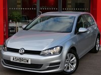 USED 2013 63 VOLKSWAGEN GOLF 1.6 TDI SE BLUEMOTION TECH DSG 5d AUTO 105 S/S £20 TAX, FULL VOLKSWAGEN SERVICE HISTORY, DAB, CRUISE, BLUETOOTH W/ AUDIO STREAMING, DRIVING MODE SELECTION, MDI FOR IPOD / USB, AUTO HOLD ASSIST, LEATHER FLAT BOTTOM MULTI FUNCTION STEERING WHEEL, TIP TRONIC AUTO DSG, TYRE PRESSURE MONITORING SYSTEM, DRLS, SD CARD READER, AUTO LIGHTS + WIPERS, AUTO DIMMING DEAR VIEW MIRROR, ELECTRIC WINDOWS, ELECTRICALLY ADJUSTABLE HEATED DOOR MIRRORS, A/C, START/STOP