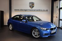 USED 2014 63 BMW 3 SERIES 3.0 330D M SPORT 4DR AUTO 255 BHP + FULL LEATHER INTERIOR + FULL BMW SERVICE HISTORY + 1 OWNER FROM NEW + PRO SATELLITE NAVIGATION + BLUETOOTH + CONNECTED DRIVE + DAB RADIO + CRUISE CONTROL + CLIMATE CONTROL + RAIN SENSORS + PARKING SENSORS + 18 INCH ALLOY WHEELS +