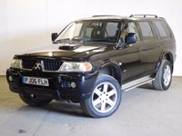 USED 2006 06 MITSUBISHI SHOGUN SPORT 2.5 WARRIOR TD GLX 5d 114 BHP 4WD LEATHER SIDE STEPS MOT 05/18 4WD. STUNNING BLACK MET WITH FULL BLACK LEATHER TRIM. SIDE STEPS. 18  INCH ALLOYS. COLOUR CODED TRIMS. AIR CON. R/CD PLAYER. MFSW. TOWBAR. MOT 05/18. SERVICE HISTORY. TEL 01937 849492