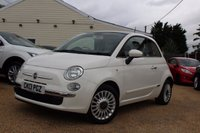 USED 2013 13 FIAT 500 1.2 LOUNGE 3d 69 BHP Blue & Me, Sunroof & more