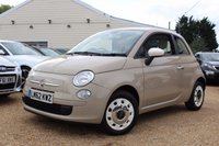 USED 2012 62 FIAT 500 1.2 COLOUR THERAPY 3d 69 BHP 6 months warranty, 1 year MOT