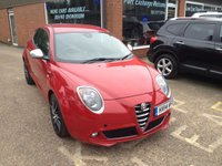 USED 2014 14 ALFA ROMEO MITO 0.9 TWINAIR SPORTIVA 3 DOOR 105 BHP IN RED ZERO ROAD TAX LOW INSURANCE APPROVED CARS ARE PLEASED TO OFFER THIS ALFA ROMEO MITO 0.9 TWINAIR SPORTIVA 3 DOOR 105 BHP IN RED WITH ZERO ROAD TAX AND SUPER LOW 875CC INSURANCE THIS CAR IS AN IDEAL YOUNG DRIVERS CAR DUE TO ITS LOW CC ENGINE IN GREAT CONDITION WITH A FULL SERVICE HISTORY,1 OWNER AND GREAT SPEC INCLUDING 6 SPEED GEARBOX,ABS,AIR CON,BIG ALLOYS,BLUETOOTH,CD,C/LOCKING AND REAR PARKING SENSORS