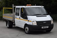 USED 2014 14 FORD TRANSIT 2.2 350 DRW 4d 100 BHP EURO 5 D/CAB RWD 6 SEATER COMBI DROPSIDE LORRY ONE OWNER FULL/SH START STOP EURO 5 ENGINE