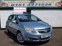 USED 2008 57 VAUXHALL CORSA 1.4 DESIGN 16V 5d 90 BHP SERVICE HISTORY, 12 MONTHS MOT, FINANCE AND WARRANTIES AVAILABLE
