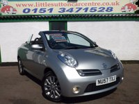 USED 2007 57 NISSAN MICRA 1.6 SPORT CC 2d 109 BHP NISSAN MICRA CONVERTIBLE, 44,000 MILES, 12 MONTHS MOT INCLUDED
