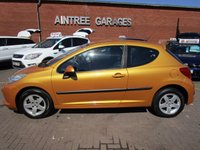 USED 2007 07 PEUGEOT 207 1.4 SPORT 3d 89 BHP LOW MILES LOW TAX AND INSURANCE